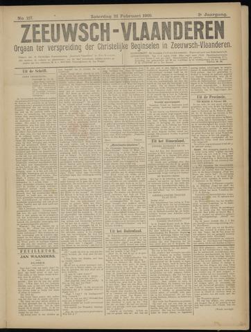 Luctor et Emergo. Antirevolutionair nieuws- en advertentieblad voor Zeeland / Zeeuwsch-Vlaanderen. Orgaan ter verspreiding van de christelijke beginselen in Zeeuwsch-Vlaanderen 1919-02-22