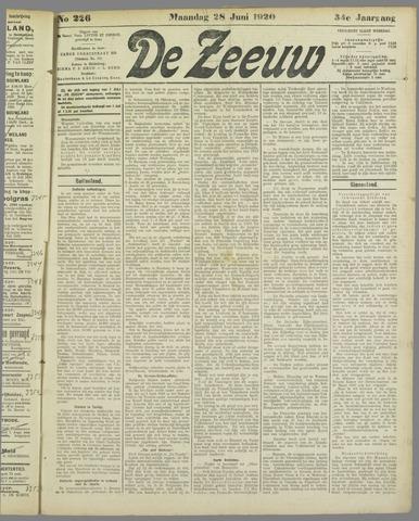 De Zeeuw. Christelijk-historisch nieuwsblad voor Zeeland 1920-06-28