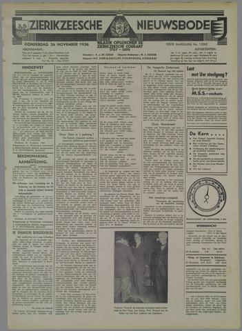 Zierikzeesche Nieuwsbode 1936-11-26