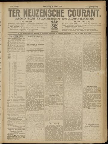 Ter Neuzensche Courant. Algemeen Nieuws- en Advertentieblad voor Zeeuwsch-Vlaanderen / Neuzensche Courant ... (idem) / (Algemeen) nieuws en advertentieblad voor Zeeuwsch-Vlaanderen 1917-05-08