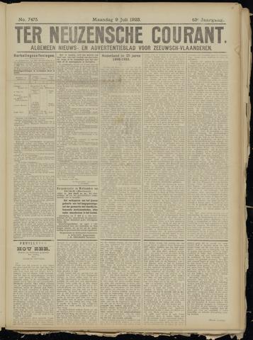 Ter Neuzensche Courant. Algemeen Nieuws- en Advertentieblad voor Zeeuwsch-Vlaanderen / Neuzensche Courant ... (idem) / (Algemeen) nieuws en advertentieblad voor Zeeuwsch-Vlaanderen 1923-07-09