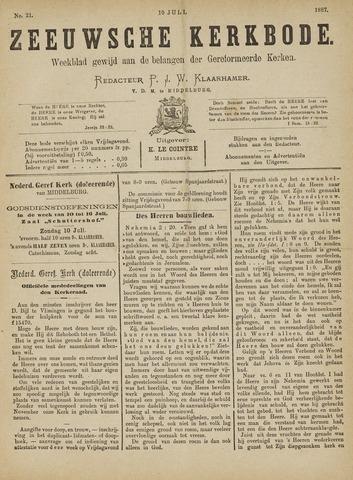 Zeeuwsche kerkbode, weekblad gewijd aan de belangen der gereformeerde kerken/ Zeeuwsch kerkblad 1887-07-10