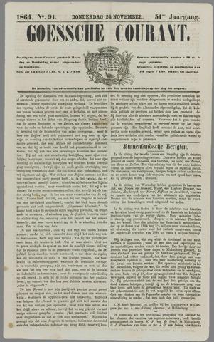 Goessche Courant 1864-11-24