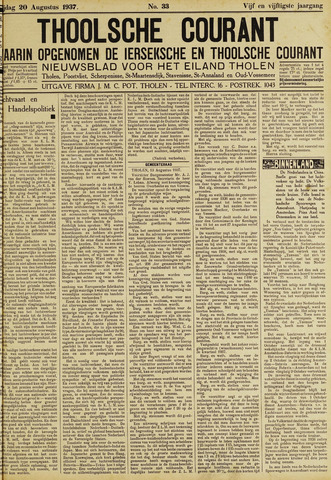 Ierseksche en Thoolsche Courant 1937-08-20