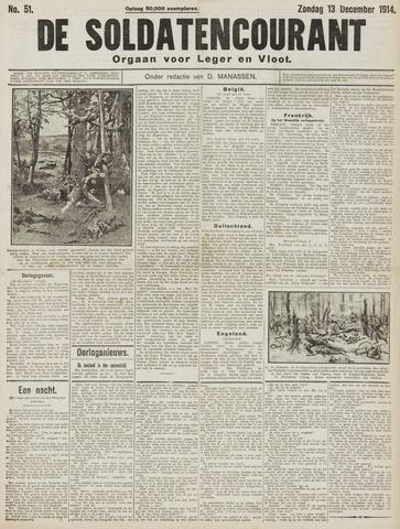 De Soldatencourant. Orgaan voor Leger en Vloot 1914-12-13