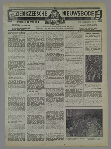 Zierikzeesche Nieuwsbode 1942-04-23