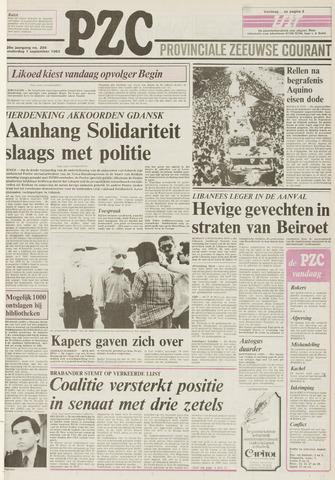 Provinciale Zeeuwse Courant 1983-09-01