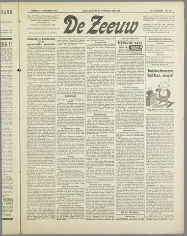 De Zeeuw. Christelijk-historisch nieuwsblad voor Zeeland 1934-11-19