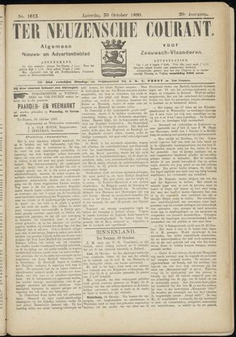 Ter Neuzensche Courant. Algemeen Nieuws- en Advertentieblad voor Zeeuwsch-Vlaanderen / Neuzensche Courant ... (idem) / (Algemeen) nieuws en advertentieblad voor Zeeuwsch-Vlaanderen 1880-10-30