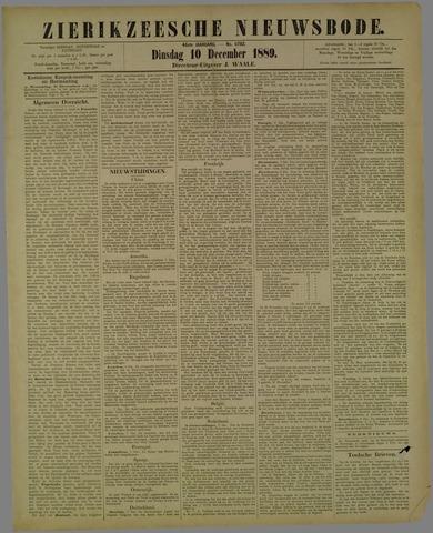 Zierikzeesche Nieuwsbode 1889-12-10