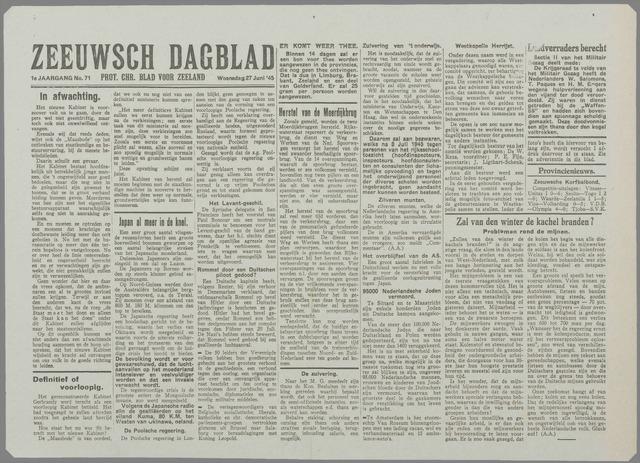 Zeeuwsch Dagblad 1945-06-27
