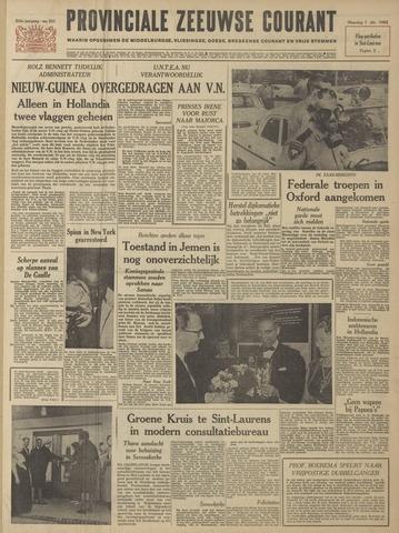 Provinciale Zeeuwse Courant 1962-10-01