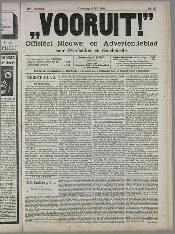 """""""Vooruit!""""Officieel Nieuws- en Advertentieblad voor Overflakkee en Goedereede 1912-05-08"""