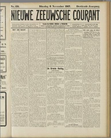 Nieuwe Zeeuwsche Courant 1917-11-06