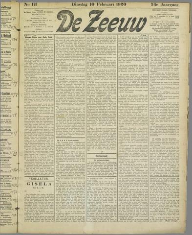De Zeeuw. Christelijk-historisch nieuwsblad voor Zeeland 1920-02-10