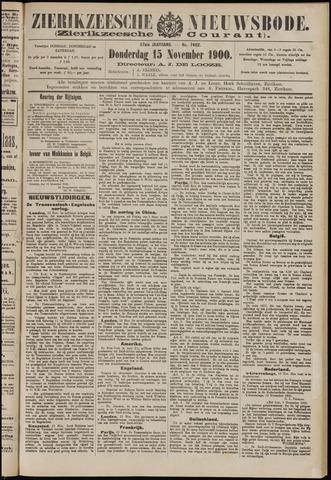 Zierikzeesche Nieuwsbode 1900-11-15