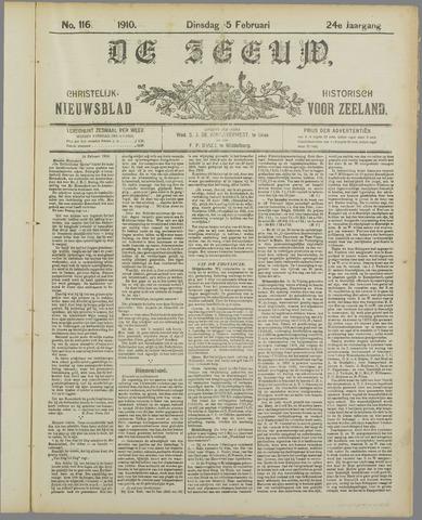 De Zeeuw. Christelijk-historisch nieuwsblad voor Zeeland 1910-02-15