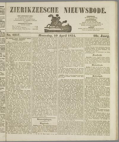 Zierikzeesche Nieuwsbode 1854-04-10