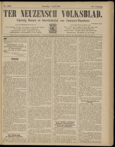 Ter Neuzensch Volksblad. Vrijzinnig nieuws- en advertentieblad voor Zeeuwsch- Vlaanderen / Zeeuwsch Nieuwsblad. Nieuws- en advertentieblad voor Zeeland 1916-04-01