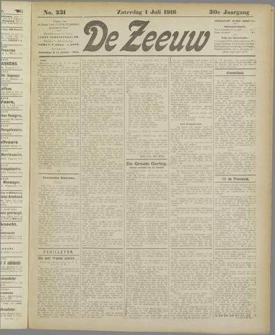 De Zeeuw. Christelijk-historisch nieuwsblad voor Zeeland 1916-07-01