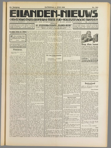 Eilanden-nieuws. Christelijk streekblad op gereformeerde grondslag 1938-06-04