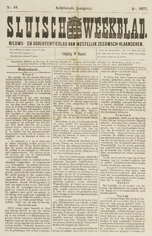 Sluisch Weekblad. Nieuws- en advertentieblad voor Westelijk Zeeuwsch-Vlaanderen 1877-03-09