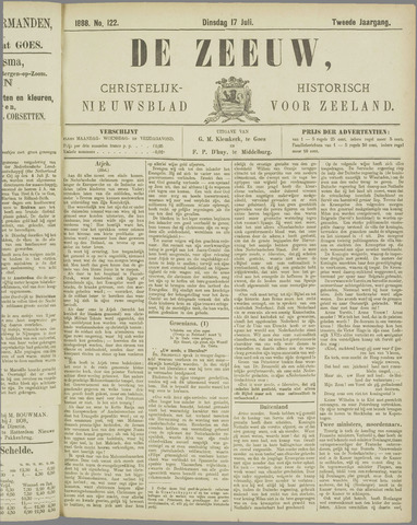 De Zeeuw. Christelijk-historisch nieuwsblad voor Zeeland 1888-07-17