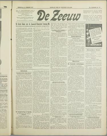 De Zeeuw. Christelijk-historisch nieuwsblad voor Zeeland 1937-02-18