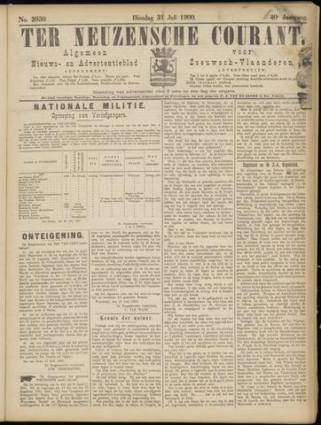 Ter Neuzensche Courant. Algemeen Nieuws- en Advertentieblad voor Zeeuwsch-Vlaanderen / Neuzensche Courant ... (idem) / (Algemeen) nieuws en advertentieblad voor Zeeuwsch-Vlaanderen 1900-07-31