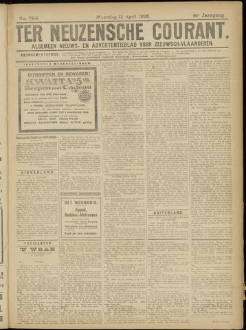 Ter Neuzensche Courant. Algemeen Nieuws- en Advertentieblad voor Zeeuwsch-Vlaanderen / Neuzensche Courant ... (idem) / (Algemeen) nieuws en advertentieblad voor Zeeuwsch-Vlaanderen 1926-04-12