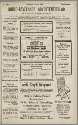 Noord-Bevelands Nieuws- en advertentieblad 1926-04-17