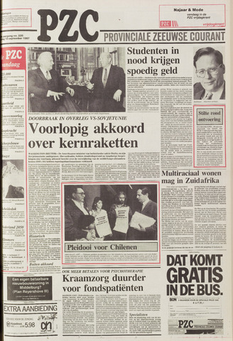 Provinciale Zeeuwse Courant 1987-09-18