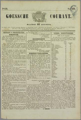Goessche Courant 1853-08-22