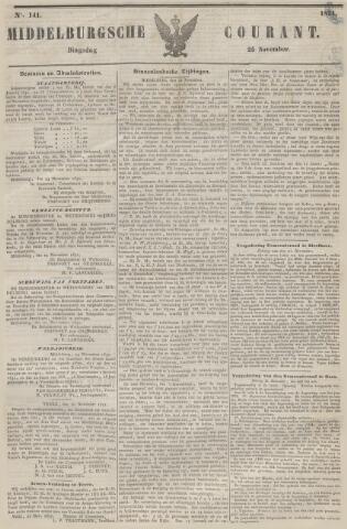 Middelburgsche Courant 1851-11-25