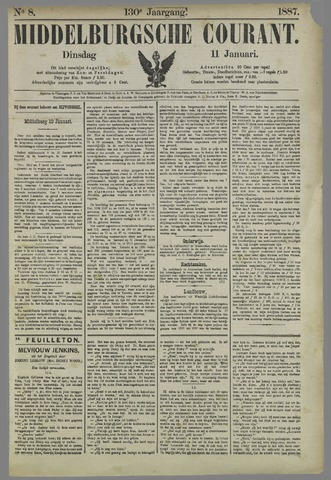 Middelburgsche Courant 1887-01-11