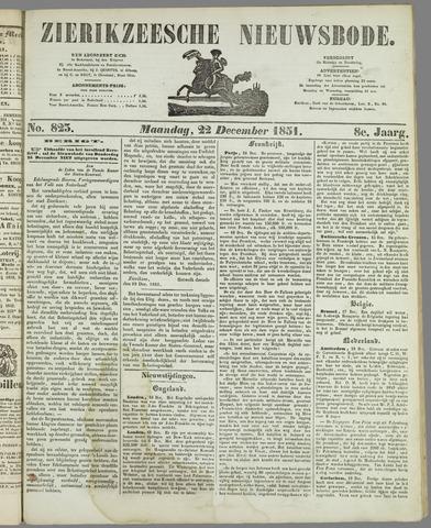 Zierikzeesche Nieuwsbode 1851-12-22