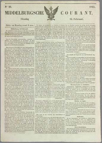 Middelburgsche Courant 1865-02-14
