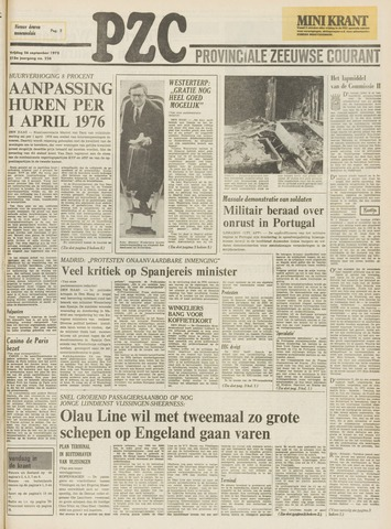 Provinciale Zeeuwse Courant 1975-09-26