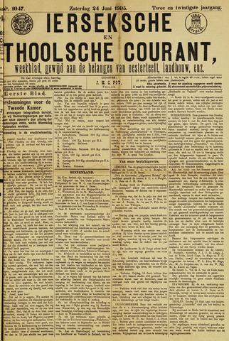 Ierseksche en Thoolsche Courant 1905-06-24