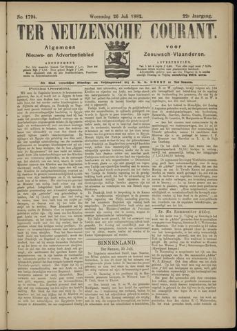 Ter Neuzensche Courant. Algemeen Nieuws- en Advertentieblad voor Zeeuwsch-Vlaanderen / Neuzensche Courant ... (idem) / (Algemeen) nieuws en advertentieblad voor Zeeuwsch-Vlaanderen 1882-07-26