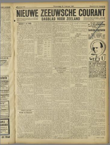 Nieuwe Zeeuwsche Courant 1921-02-23
