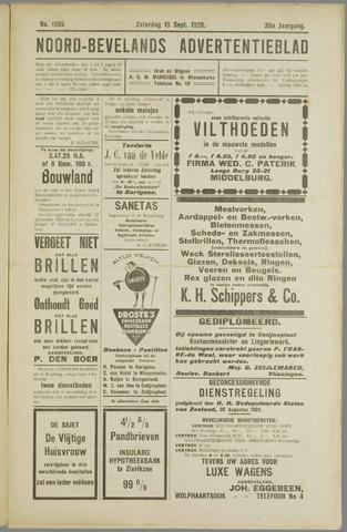 Noord-Bevelands Nieuws- en advertentieblad 1928-09-15