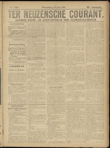 Ter Neuzensche Courant. Algemeen Nieuws- en Advertentieblad voor Zeeuwsch-Vlaanderen / Neuzensche Courant ... (idem) / (Algemeen) nieuws en advertentieblad voor Zeeuwsch-Vlaanderen 1921-06-29