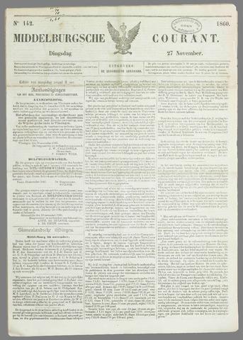 Middelburgsche Courant 1860-11-27