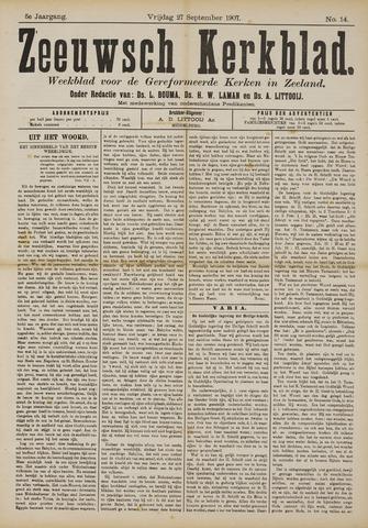 Zeeuwsche kerkbode, weekblad gewijd aan de belangen der gereformeerde kerken/ Zeeuwsch kerkblad 1907-09-27