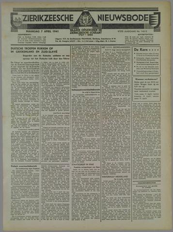 Zierikzeesche Nieuwsbode 1941-04-07