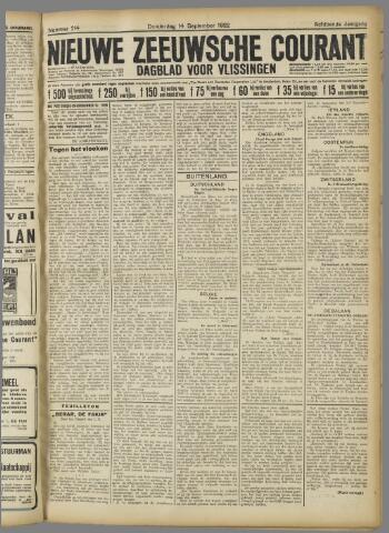 Nieuwe Zeeuwsche Courant 1922-09-14