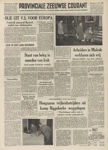 Provinciale Zeeuwse Courant 1956-12-01