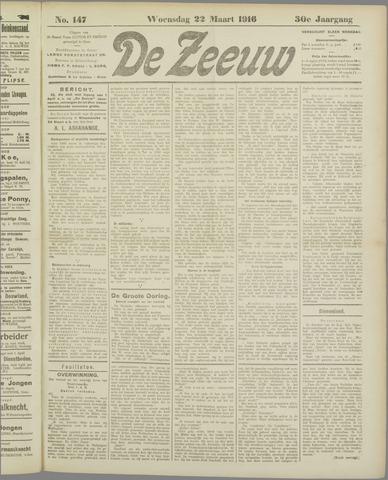 De Zeeuw. Christelijk-historisch nieuwsblad voor Zeeland 1916-03-22