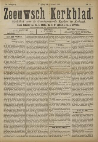 Zeeuwsche kerkbode, weekblad gewijd aan de belangen der gereformeerde kerken/ Zeeuwsch kerkblad 1909-01-29